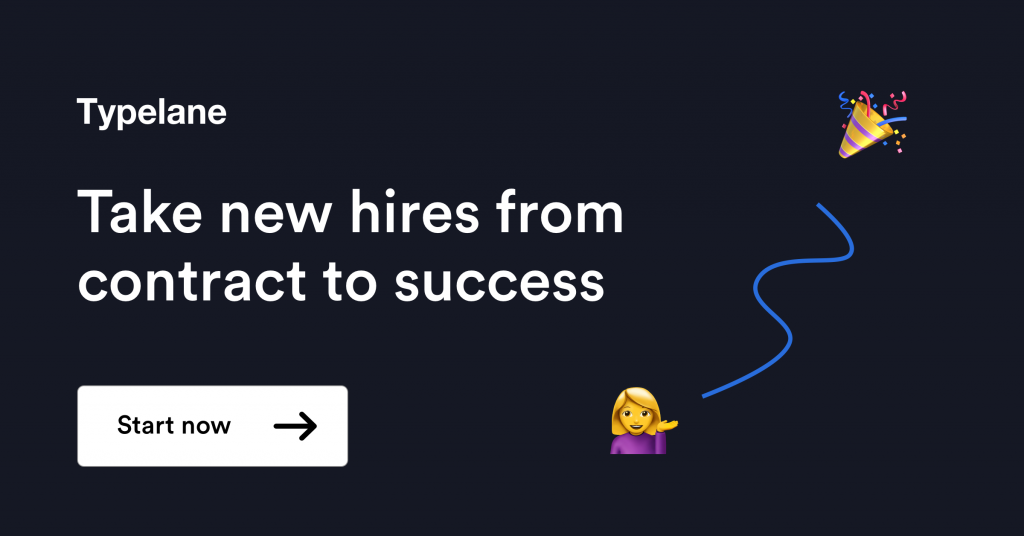 Help new hires succeed - onboarding