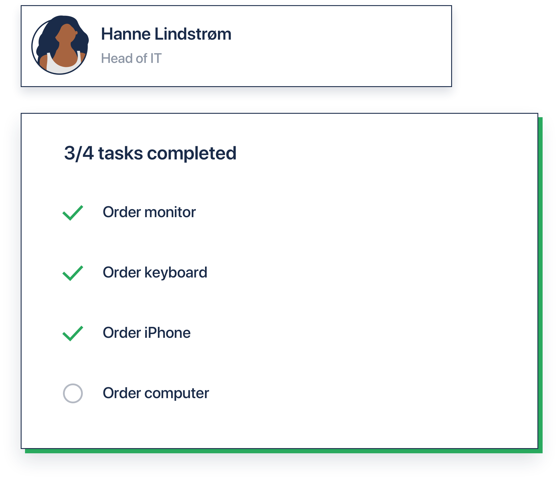 Forms and to-do list employee onboarding